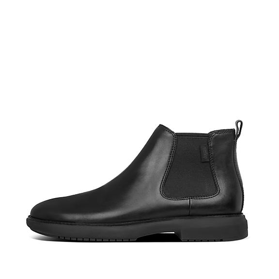 핏플랍 부츠 FitFlop Mens Lamont Leather Shoes,All Black