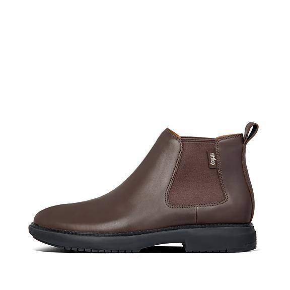 핏플랍 가죽 부츠 FitFlop Mens Lamont Leather Shoes,Chocolate Brown
