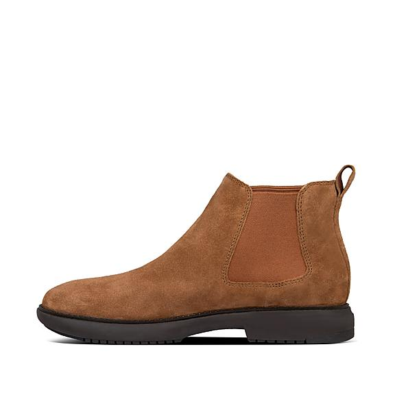 핏플랍 라몬트 부츠 FitFlop Mens Lamont Suede Shoes,Dark Tan