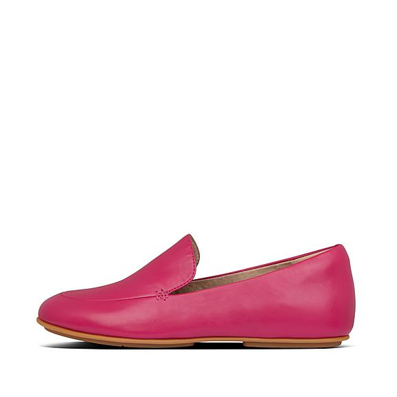 핏플랍 레나 로퍼 FitFlop Womens LENA Leather Loafers,fuchsia