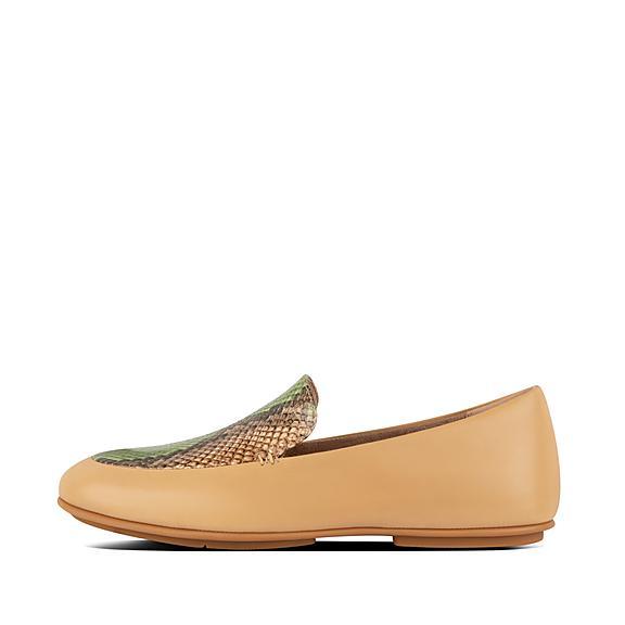 핏플랍 레나 로퍼 FitFlop Womens Lena Leather Loafers,Lime Green
