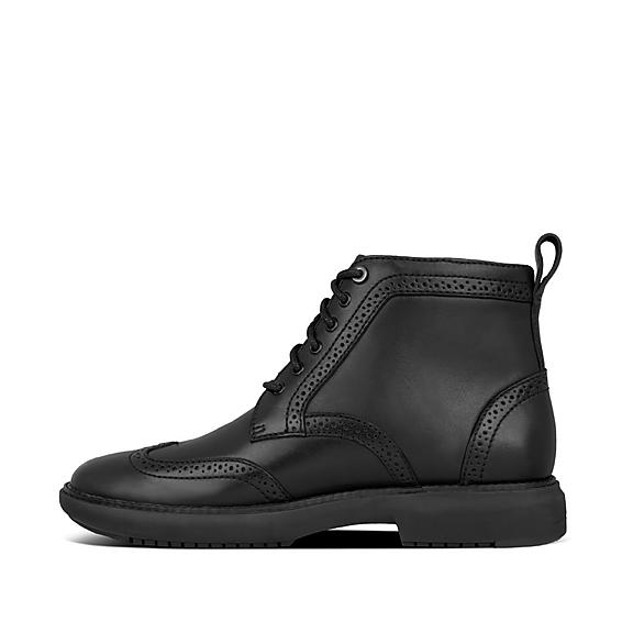 핏플랍 부츠 FitFlop Mens Odyn Leather Boots,All Black