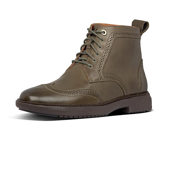 핏플랍 오딘 부츠 FitFlop Mens Odyn Leather Boots,Forest Green