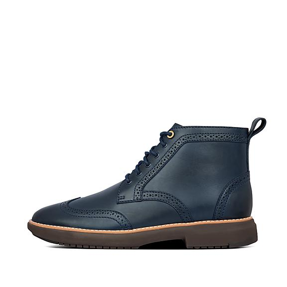 핏플랍 오딘 가죽 부츠 FitFlop Mens Odyn Leather Boots,Midnight Navy