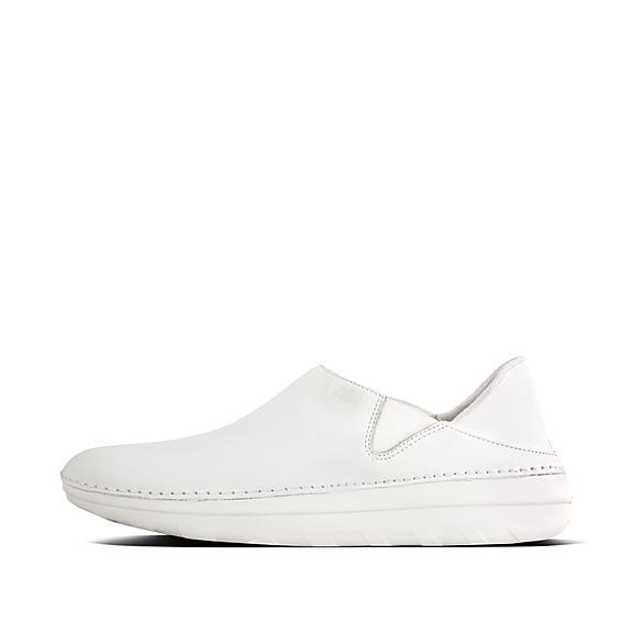 핏플랍 로퍼 FitFlop Womens SUPERLOAFER Leather Loafers,White