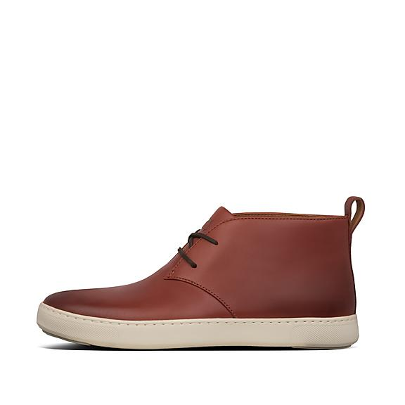 핏플랍 남성 스니커즈 FitFlop Mens Zackery Leather Shoes,Dark Red