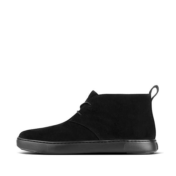 핏플랍 재커리 부츠 FitFlop Mens ZACKERY Suede Boots,Black