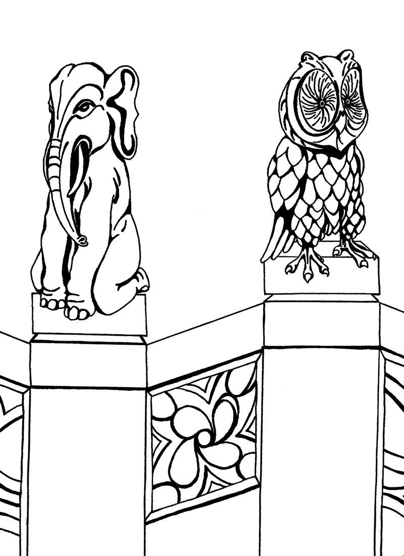 Printable Coloring Book Page For Adults Owl Desi Pattern Custom ... | 1100x800