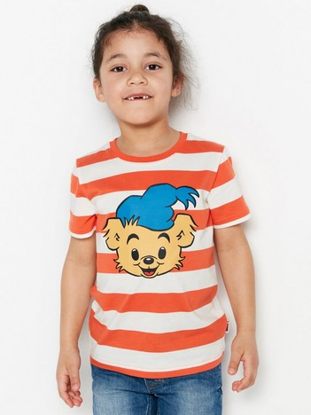 3f421628 Striped T-shirt with Bamse Print