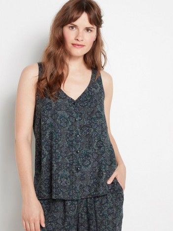 8ac4c72e4c0 Sleeveless blouse with buttons