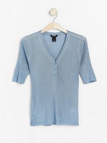 791f3c082cc392 Rib-knit short sleeve jumper