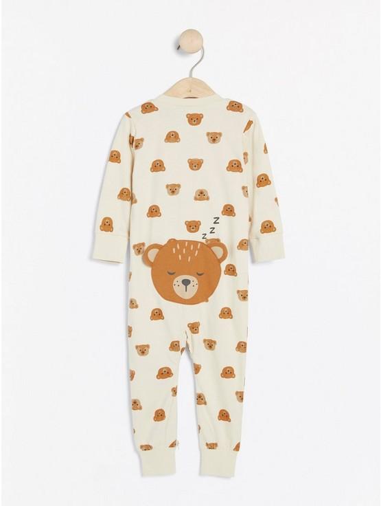 Pyjamas med björnar och applikation på rumpan