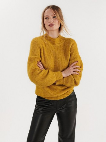 Oversized strikkegenser i alpakkablanding | Lindex
