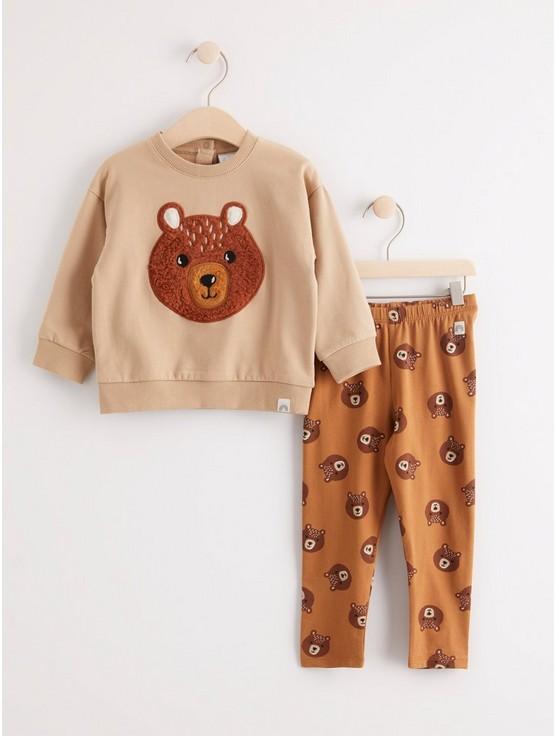 Set med tröja och leggings med björnar