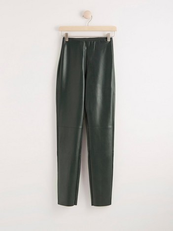 LYKKE grønn, vid bukse i lyocell | Lindex
