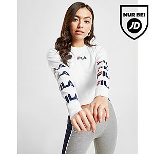 Women's Tops Kappa Tape Boyfriend Logo T Shirt white 50% off