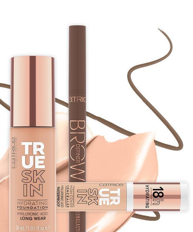 Catrice Tutorial Glam Night Make-up Step 1 Produktkollage