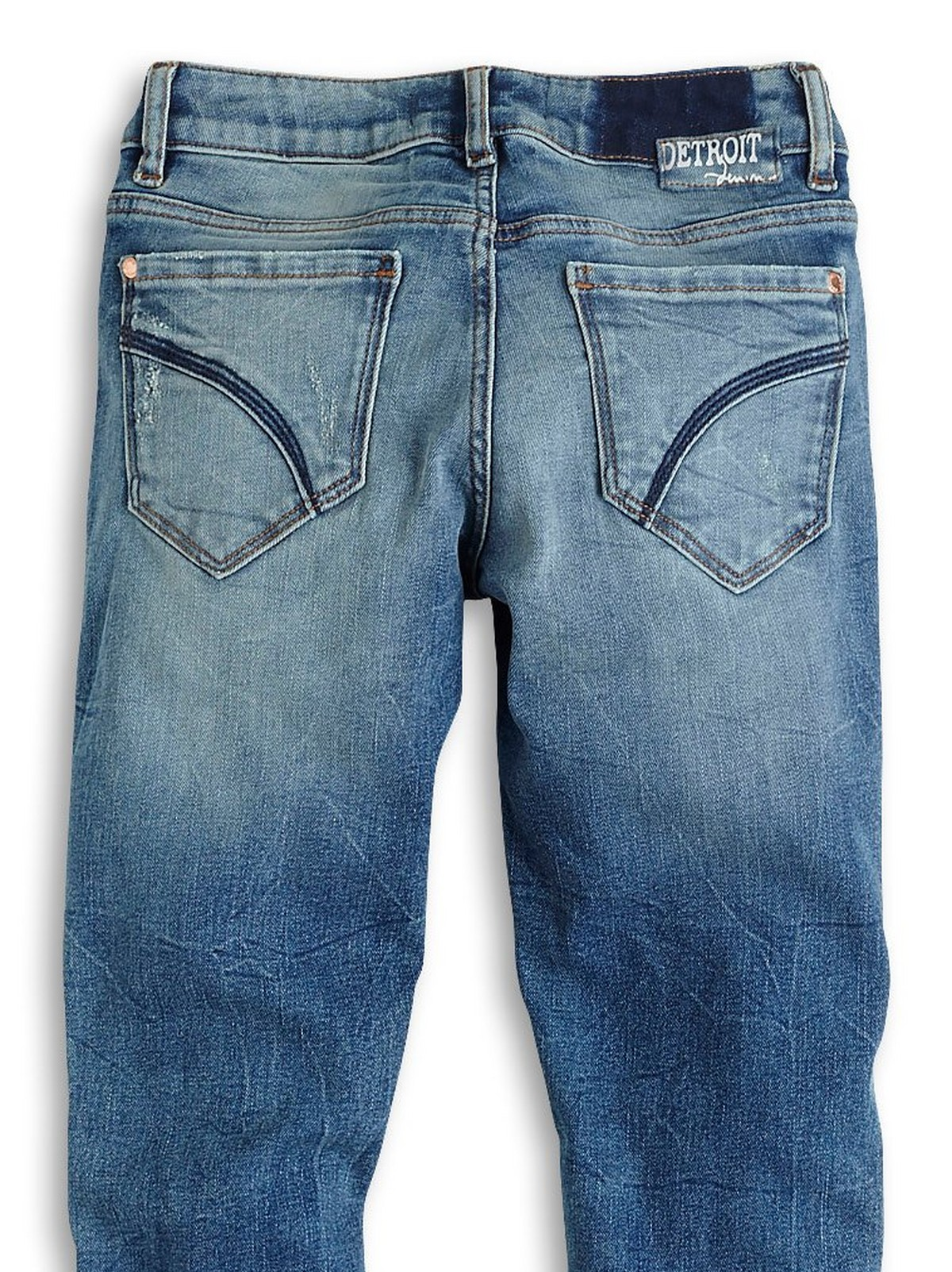 Girls/' Slim Fit Jeans Blue Light Washed Ripped Denim Pants Trousers 7-14 Years