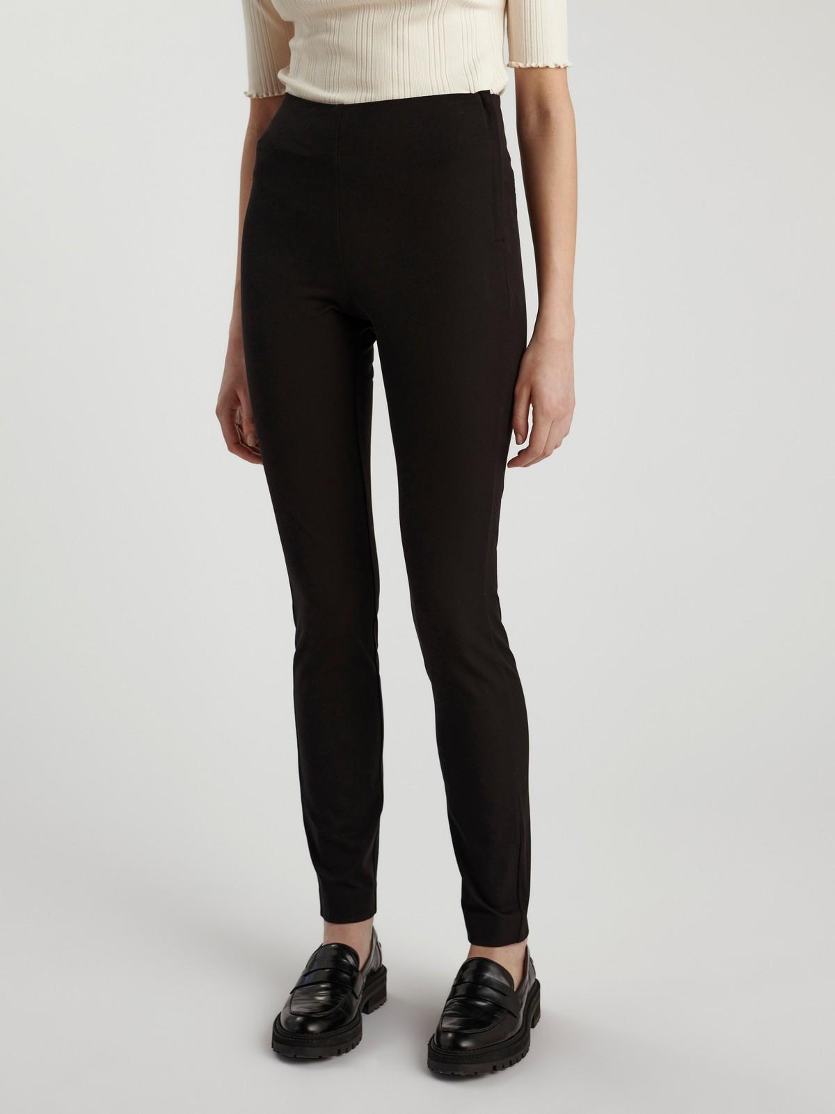 JONNA svart, smal bukse med høyt liv