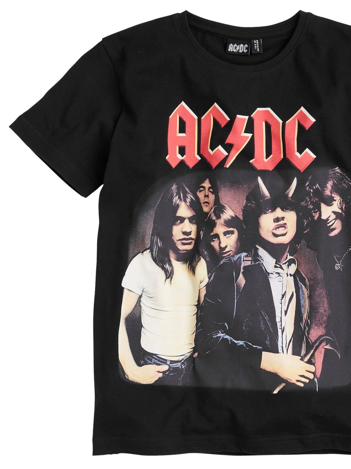 T shirt med motiv SortACDC DAME   H&M NO