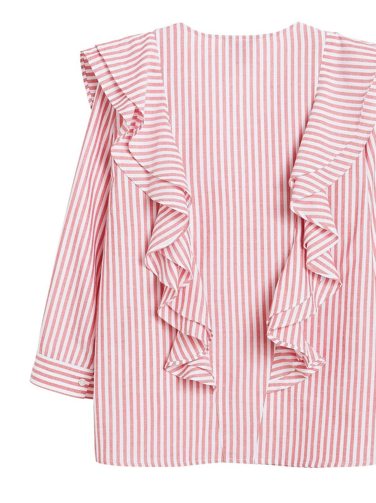 Bluse med volang | Lindex