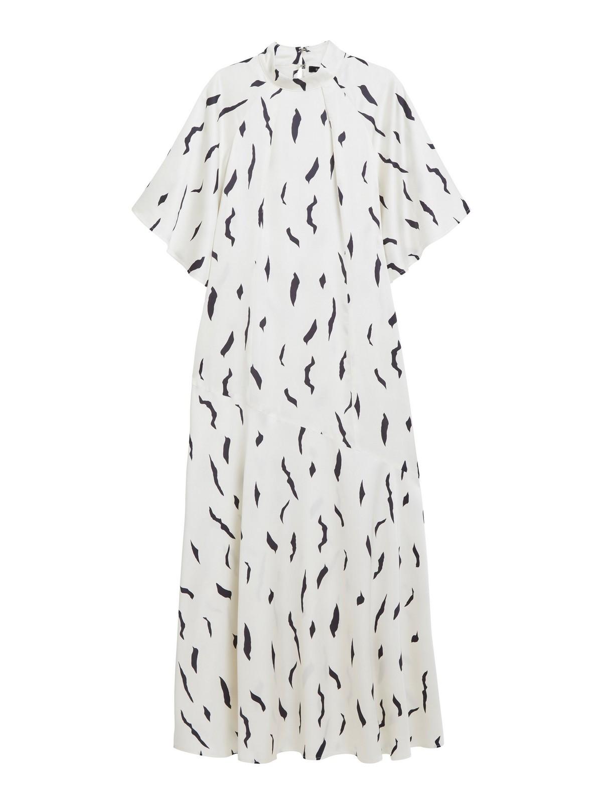 Mönstrad vit klänning | Lindex