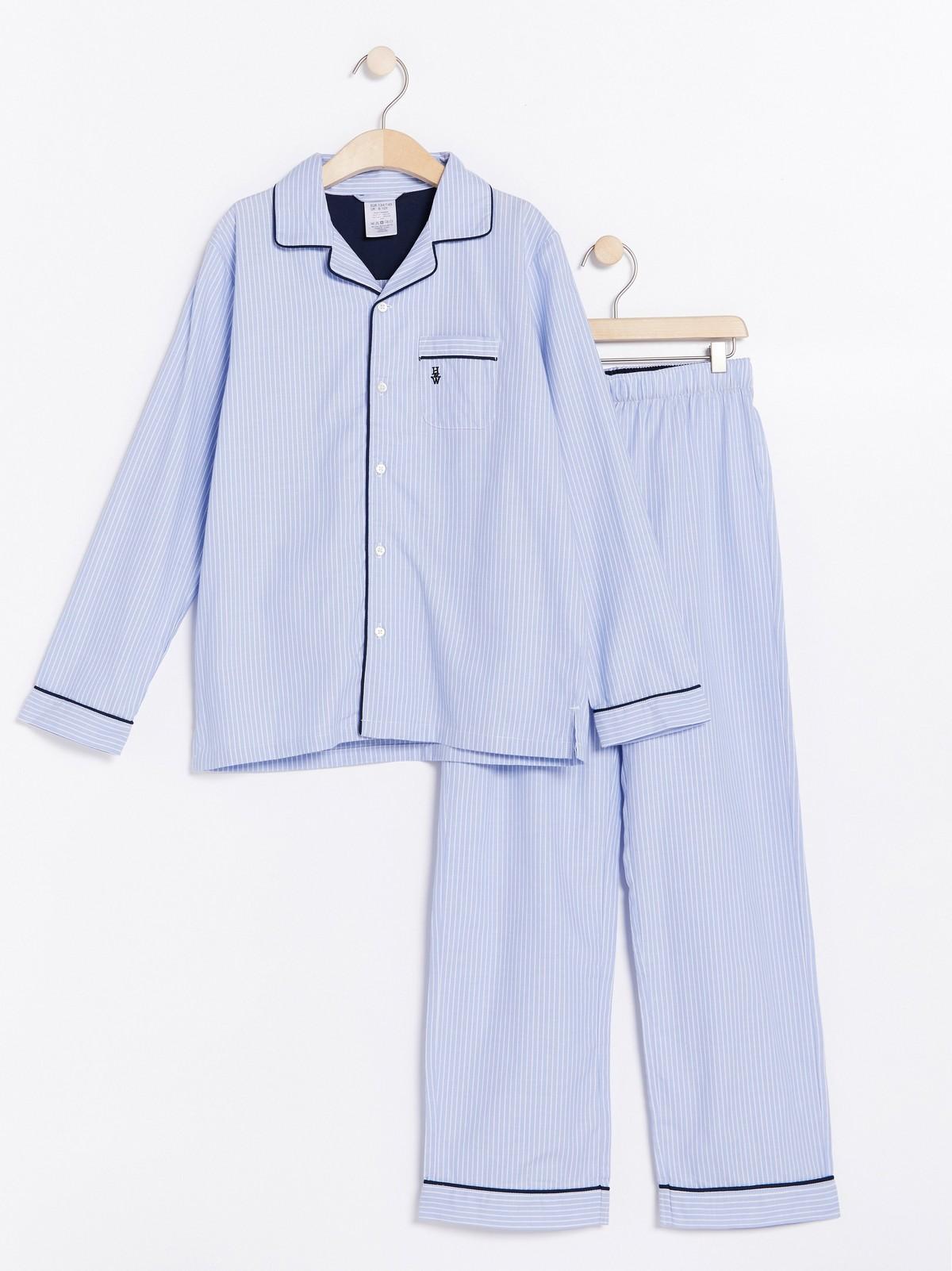 randig pyjamas dam