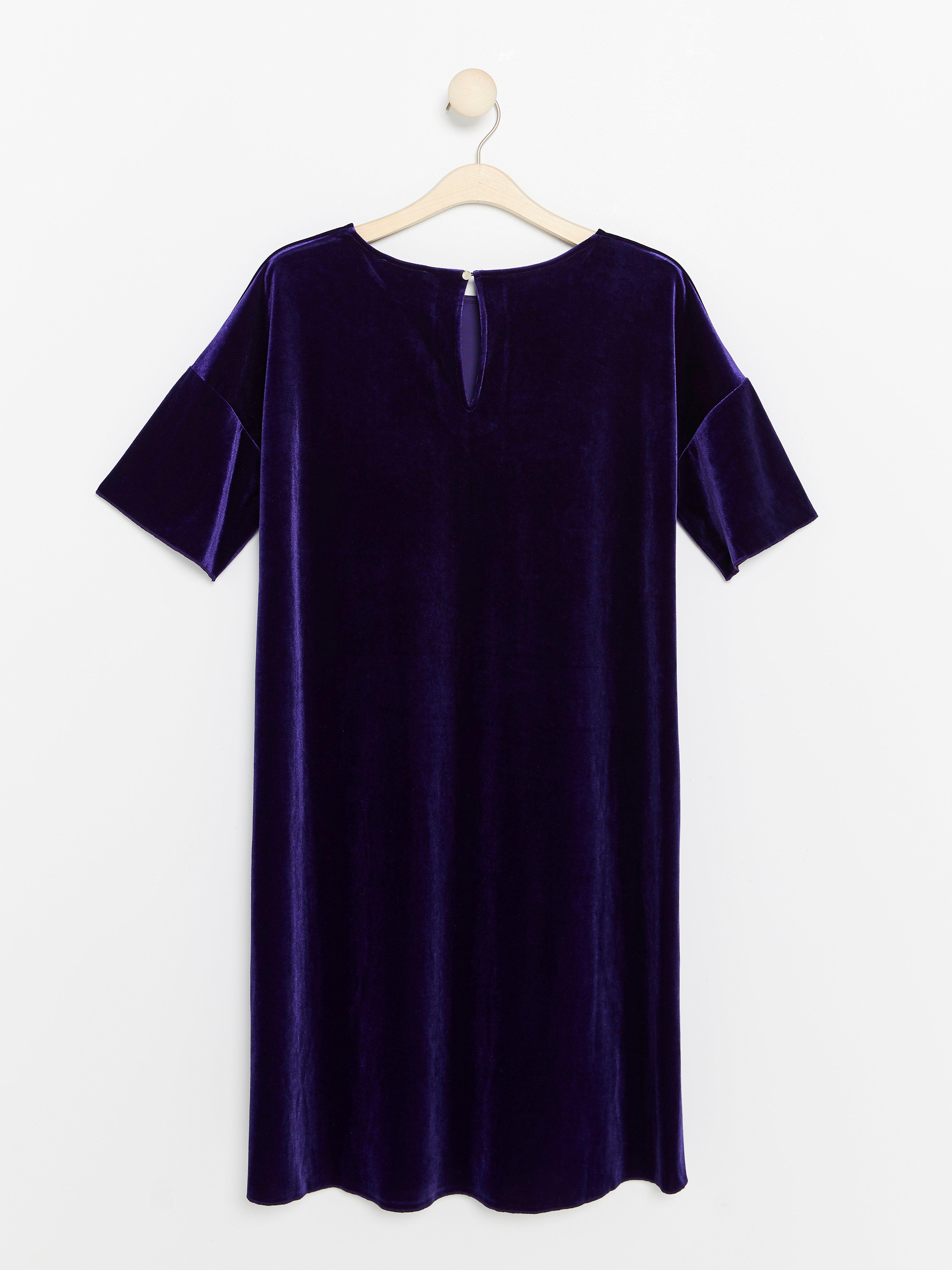 Purple Velvet Dress Lindex Europe