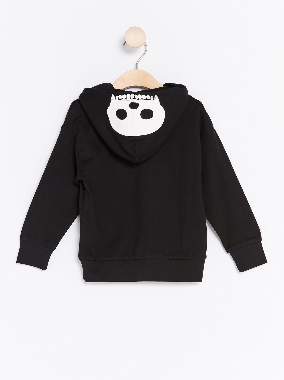 Sweatshirt med skelettmotiv