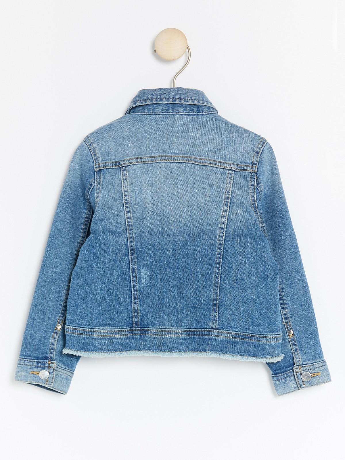 Jeansjakke med perler | Lindex
