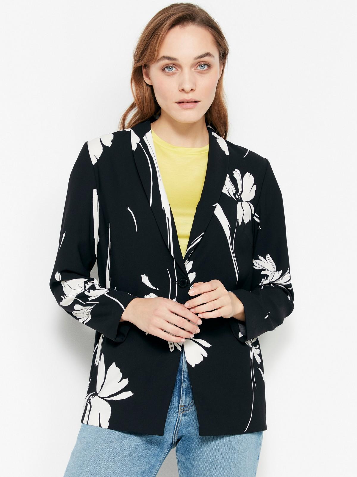 Myk jakke med blomster | Lindex