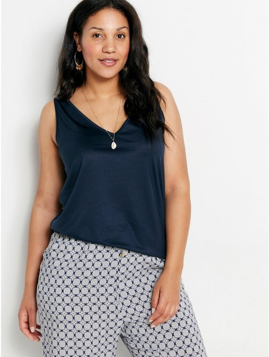 33bc45a63161 Lyocell Tank Top with V-neck | Lindex.com