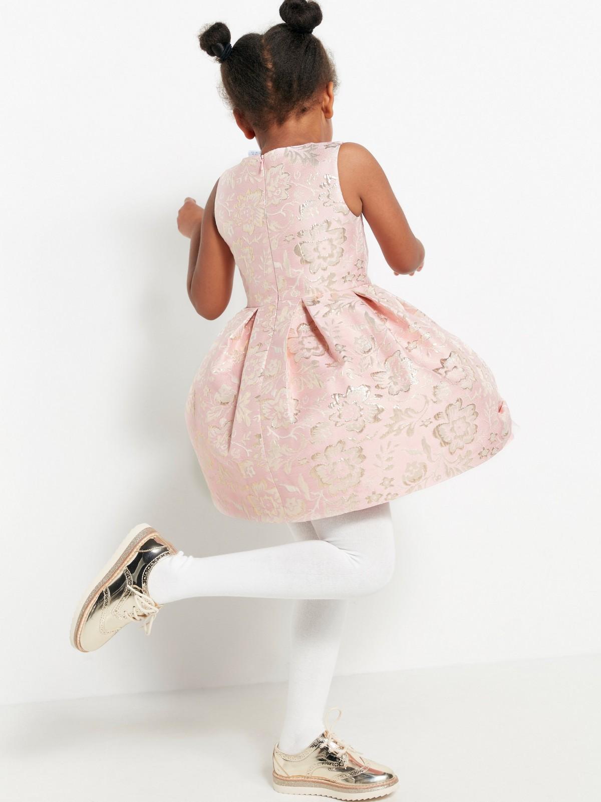 Rosa jacquardmönstrad klänning | Lindex