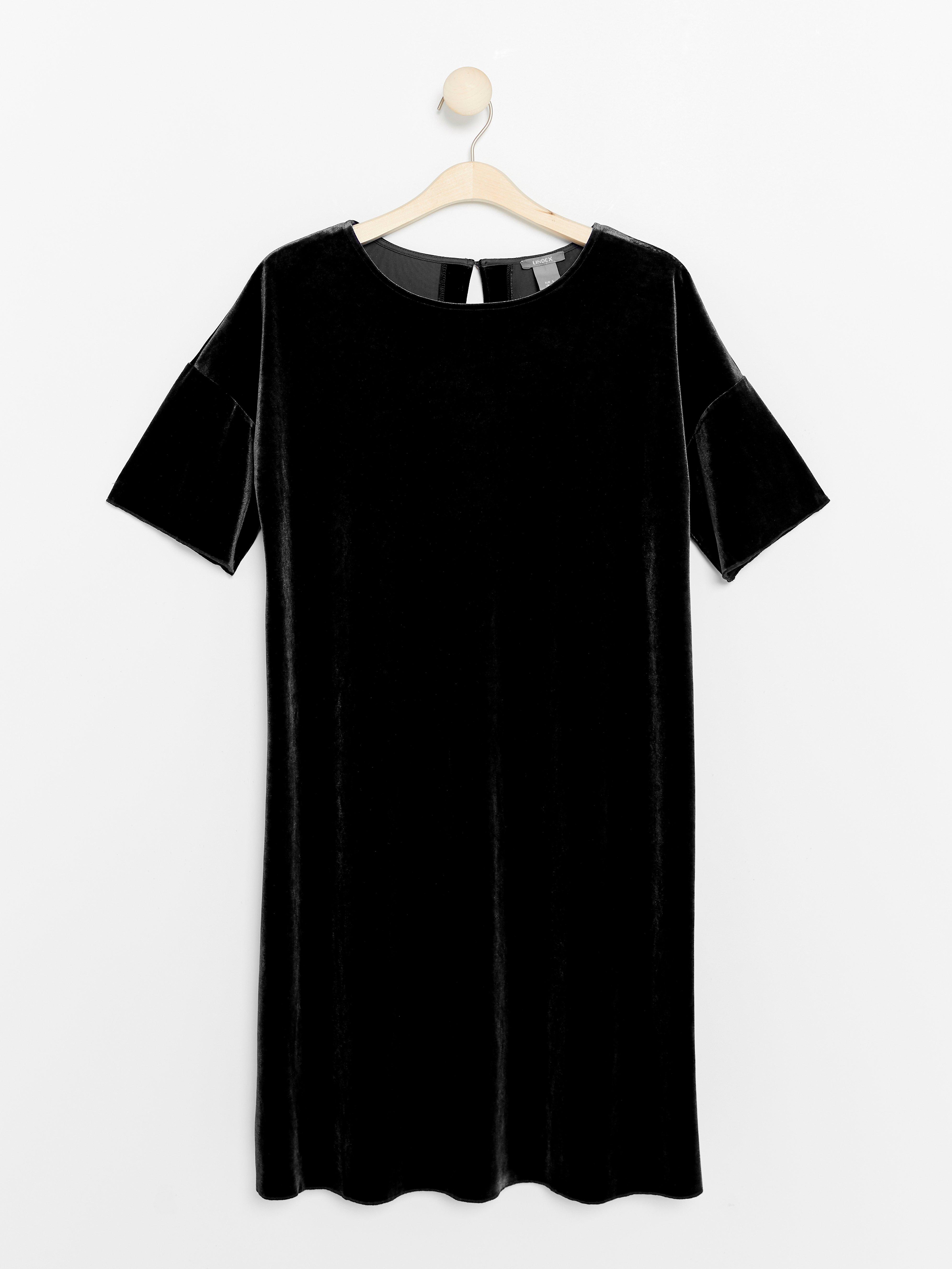 Dress In Black Velvet Lindex Poland