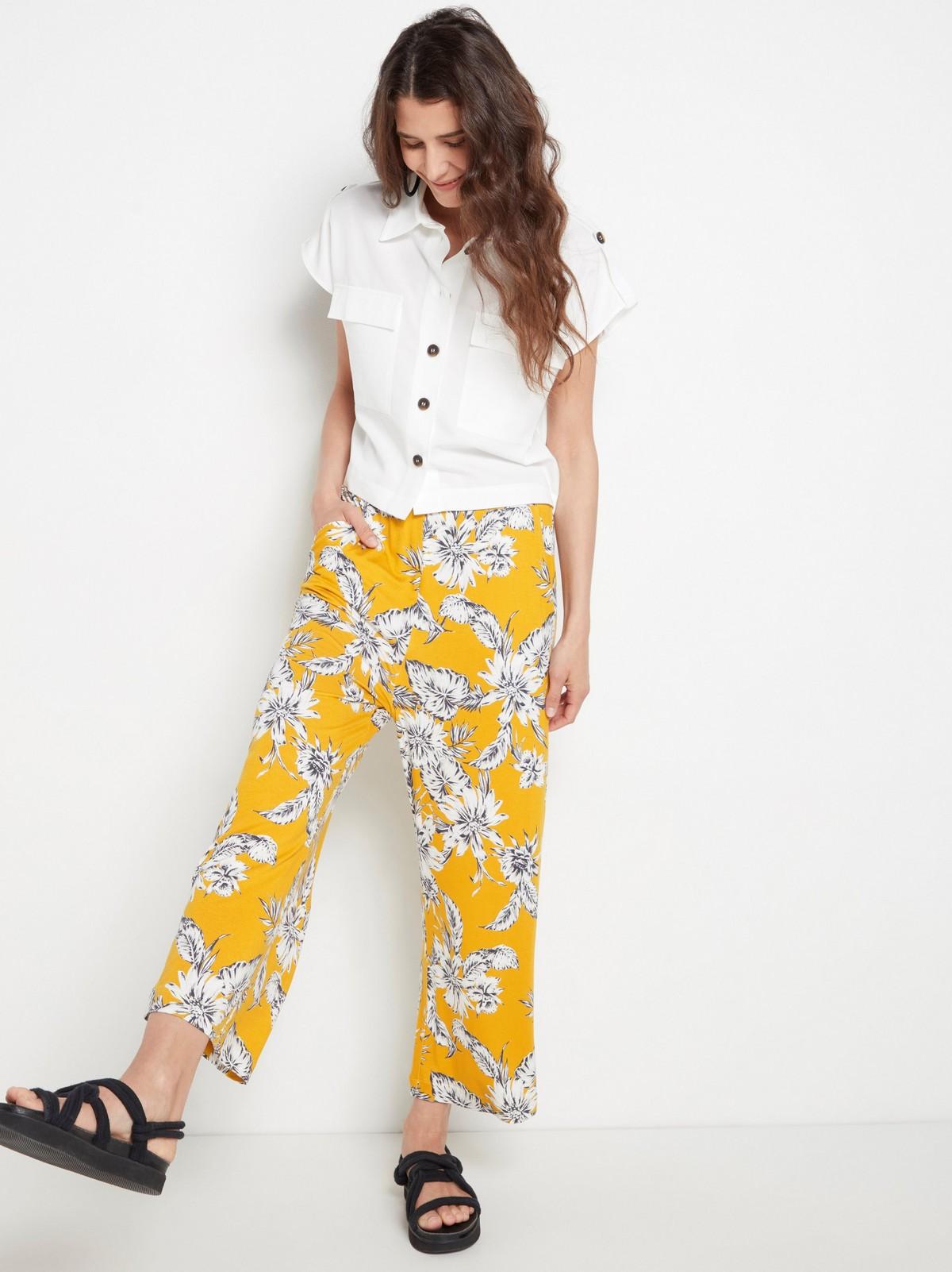 Mønstrede bukser med vide ben