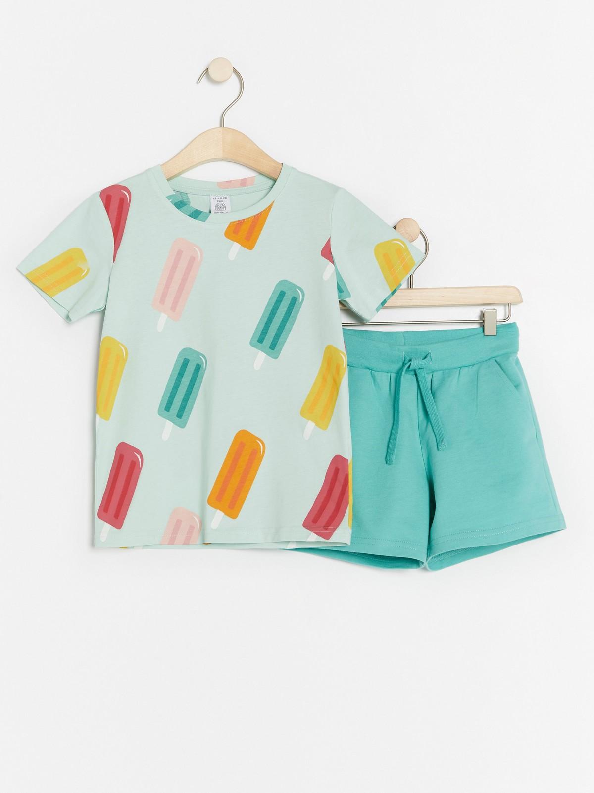 Sett med T skjorte og shorts | Lindex