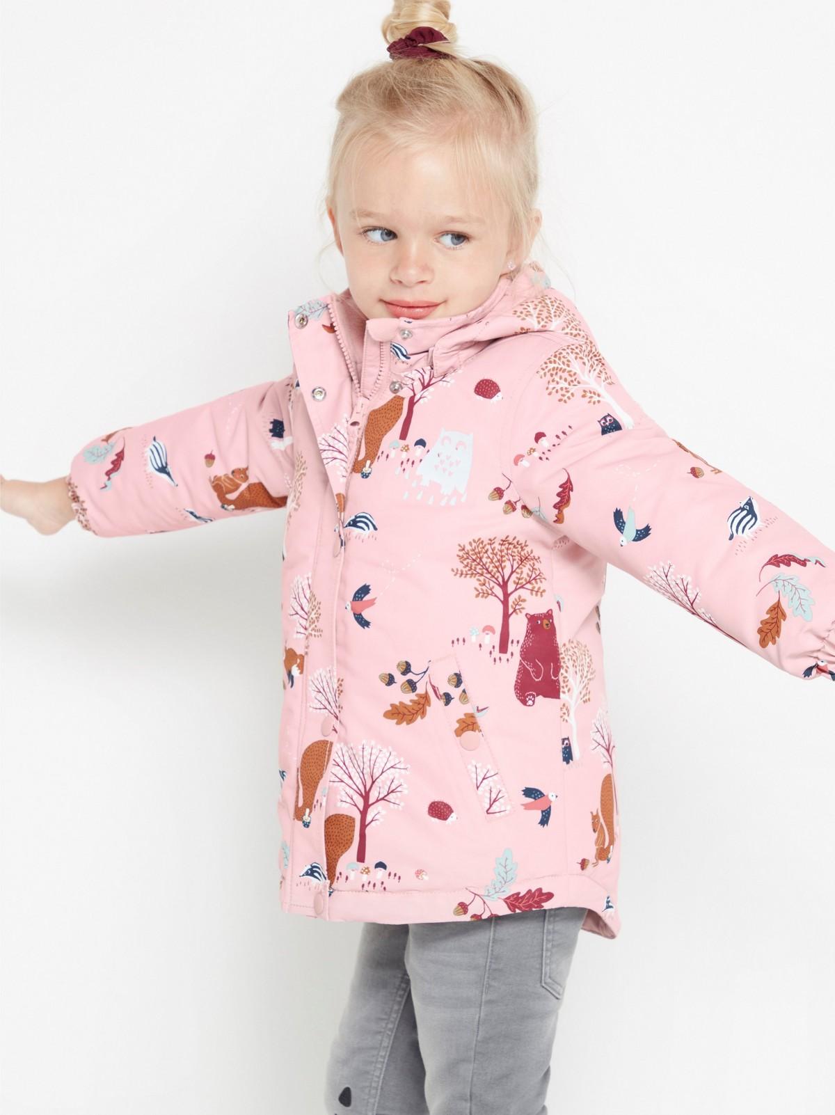 Polstret, rosa jakke med mønster | Lindex