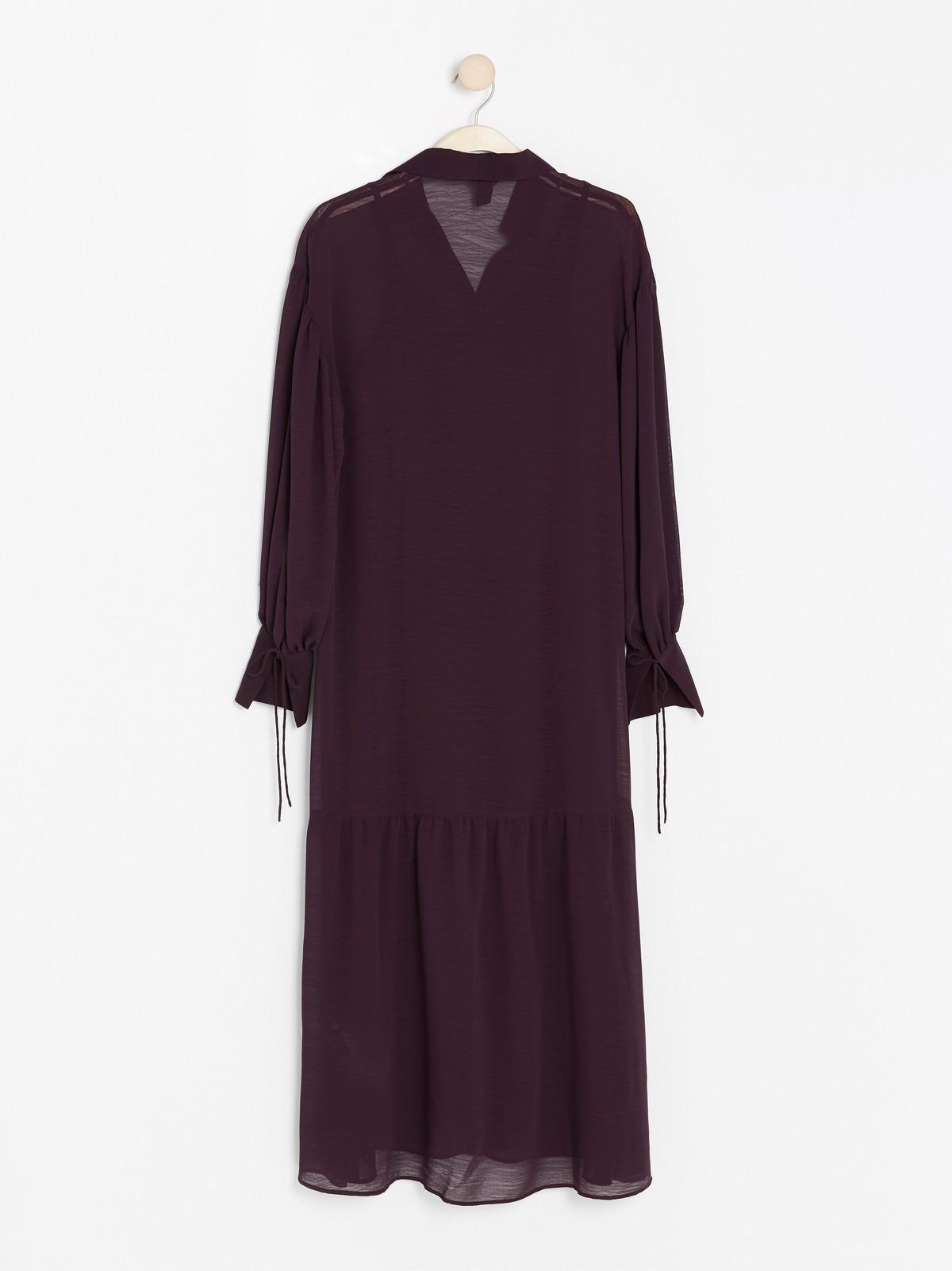 Lila klänning med knytband | Lindex