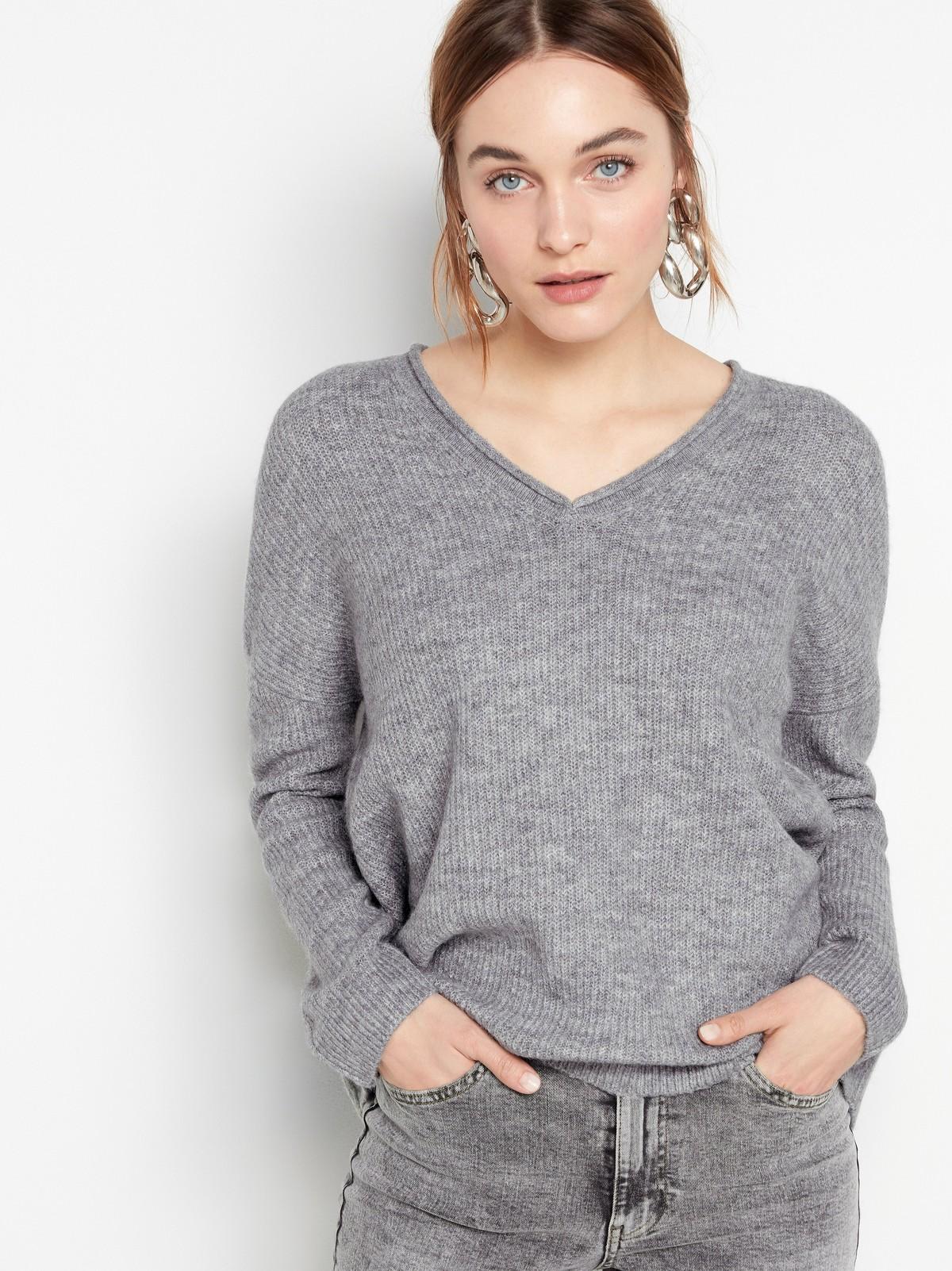 Stickad v ringad tröja | Lindex