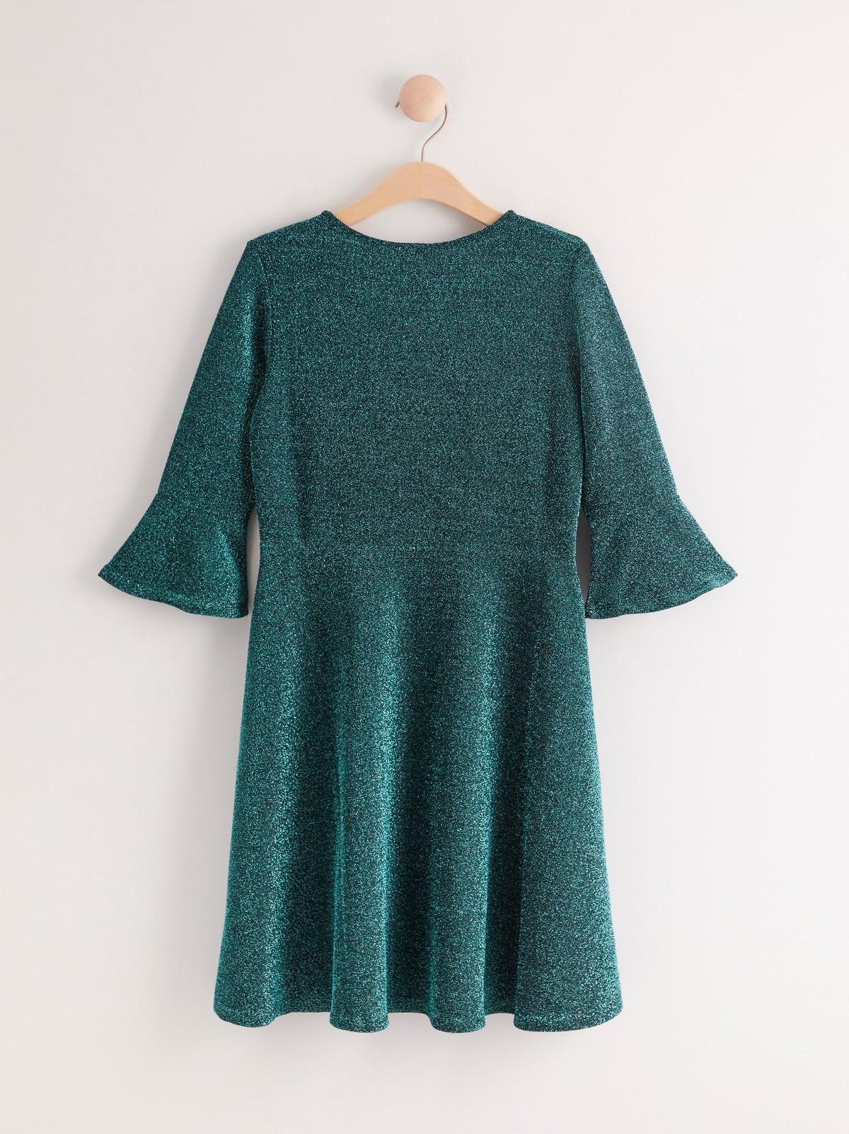 Klänning med glitter och paljetter | Lindex