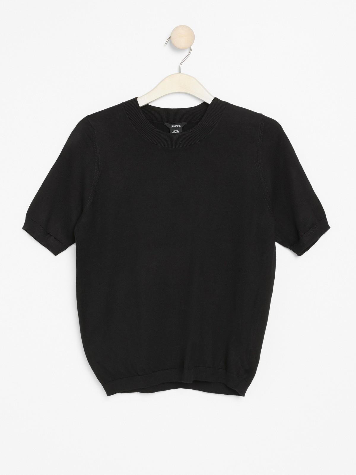 Finstrikket, kortermet genser | Lindex