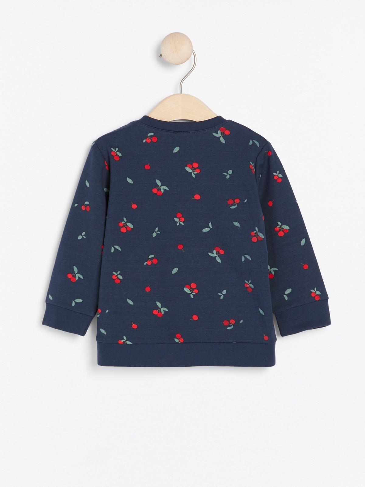 Mørk marineblå genser med bokstaver | Lindex