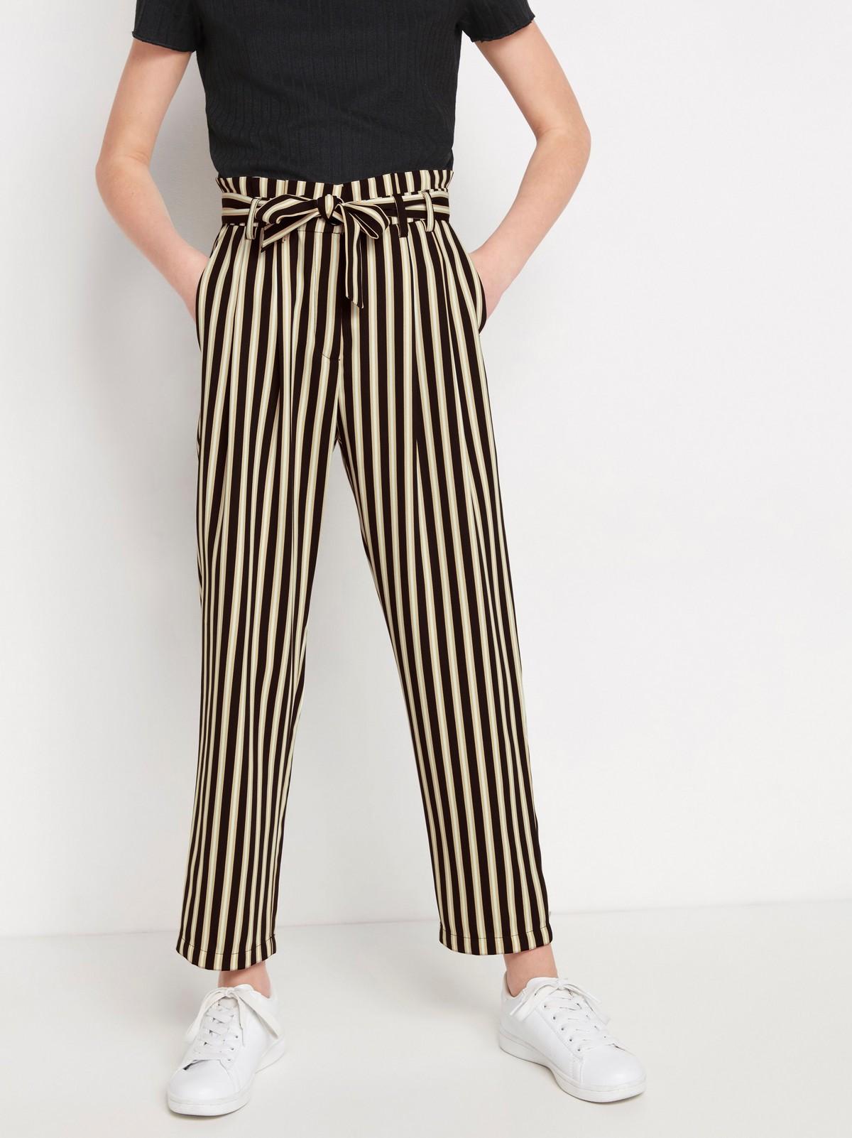 Vid, stripete bukse   Lindex
