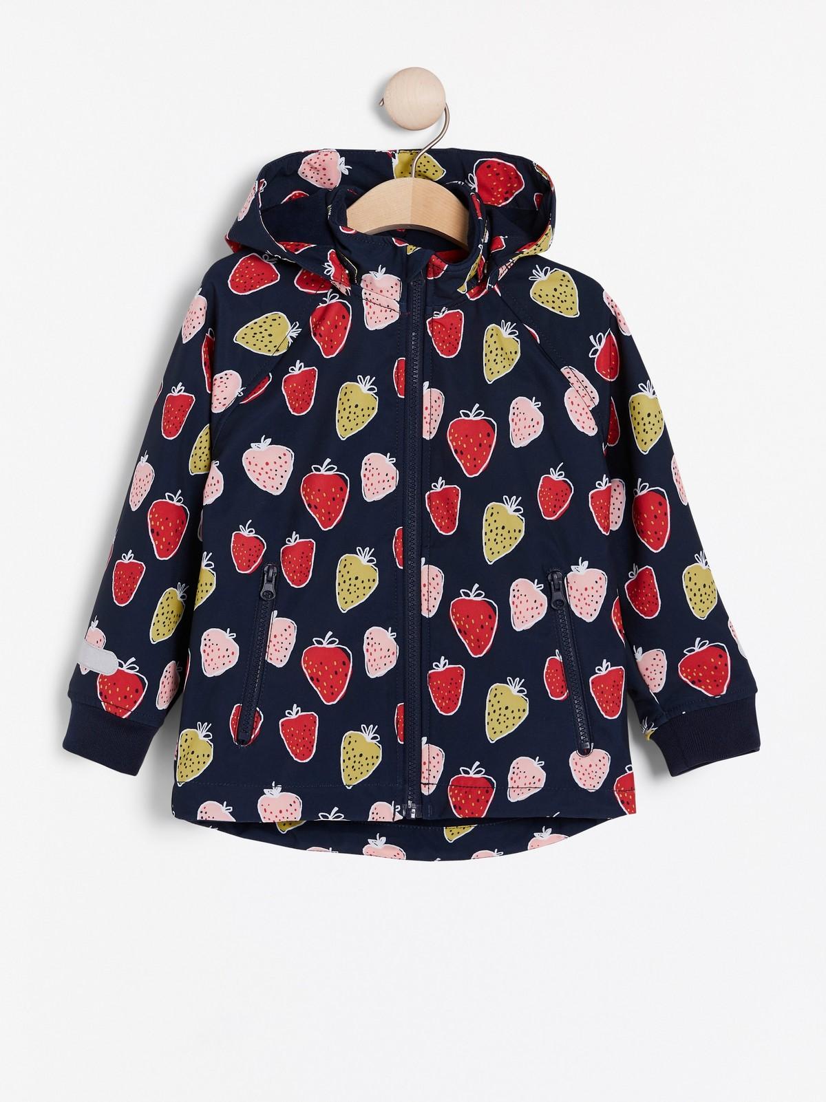Softshell takki, jossa mansikkakuvio | Lindex