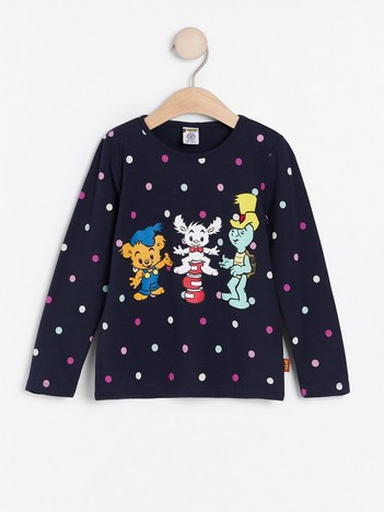 Top with dots and Bamse print