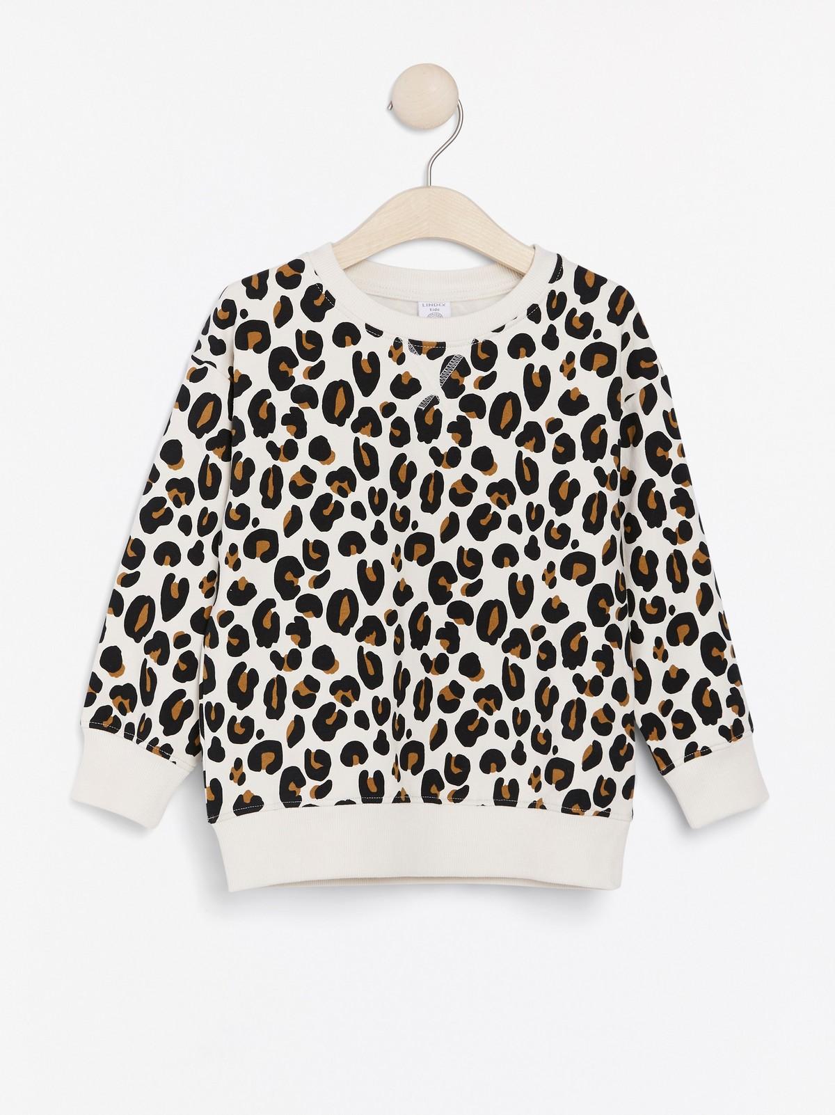 Oversized genser med leopardmønster | Lindex