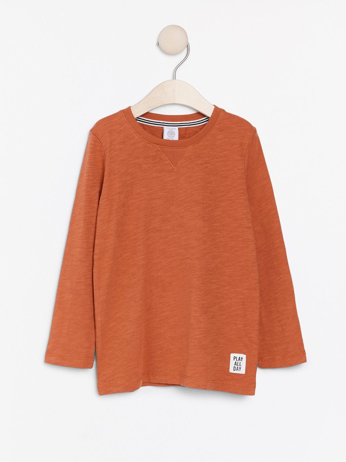Langermet T skjorte av slub jersey | Lindex