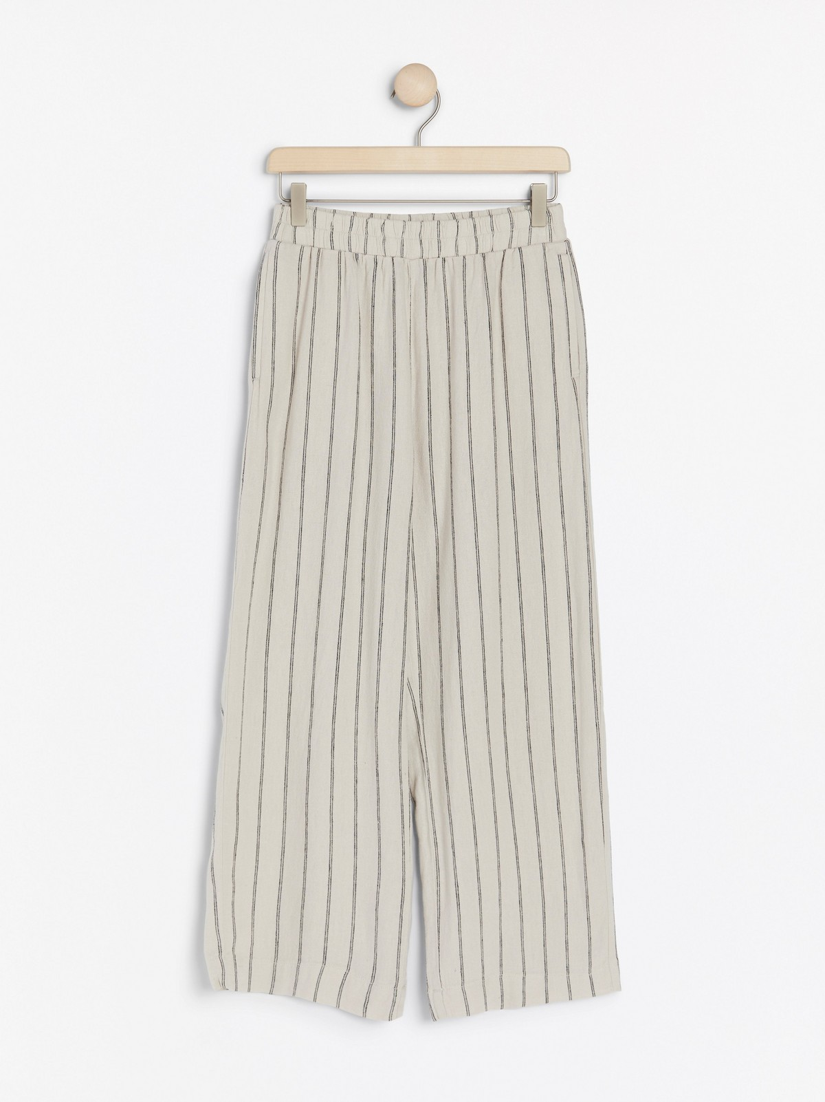 BELLA rett bukse i linblanding