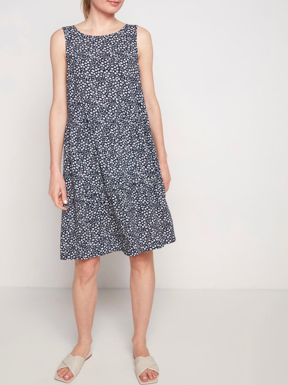Ärmlös klänning med knytning i ryggen