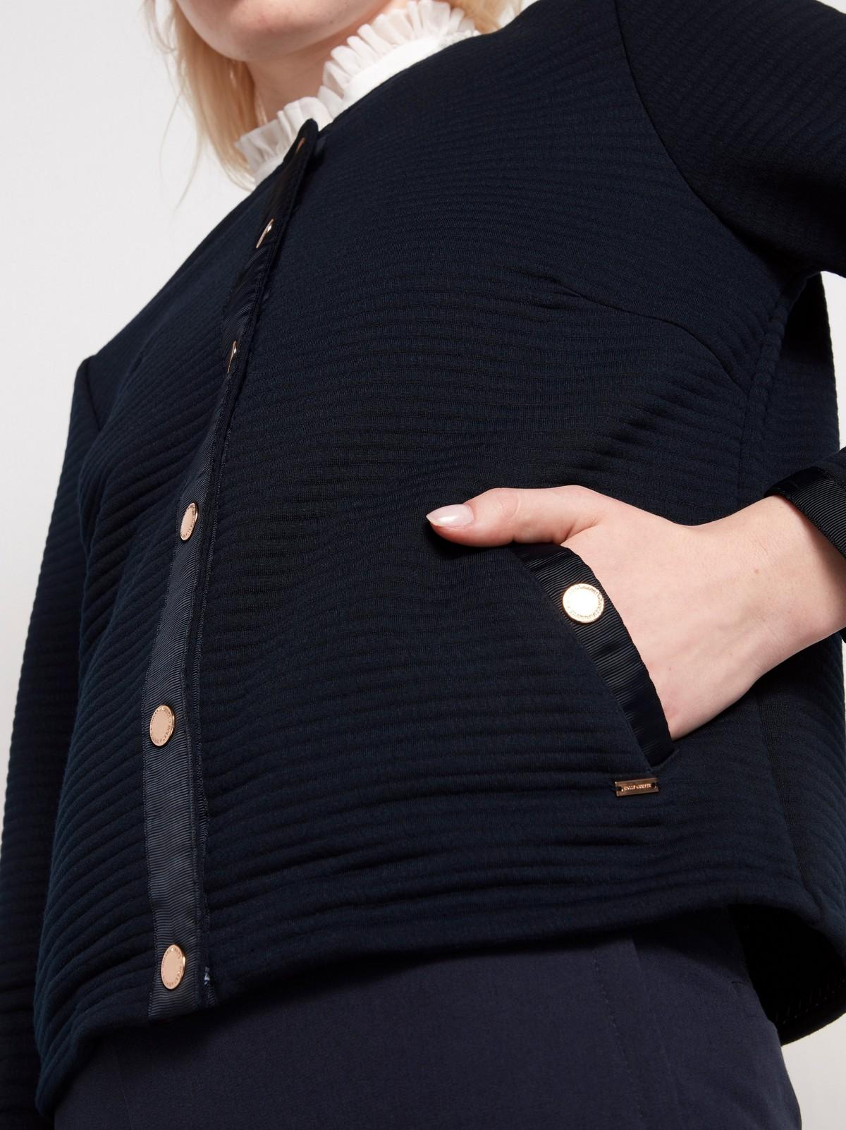 Ribbestrikket jakke med gullfargede knapper | Lindex